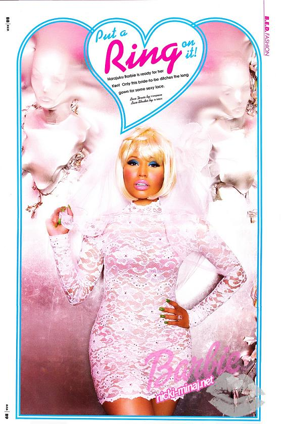 nicki minaj barbie photo shoot. Nicki Minaj Barbie Photoshoot|