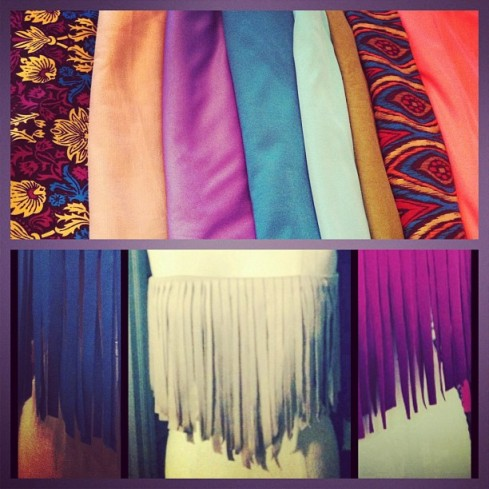 Fringe Bandeau colors