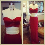 bandeau w maxi set-Red
