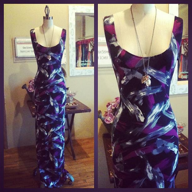 paint brush maxi dress